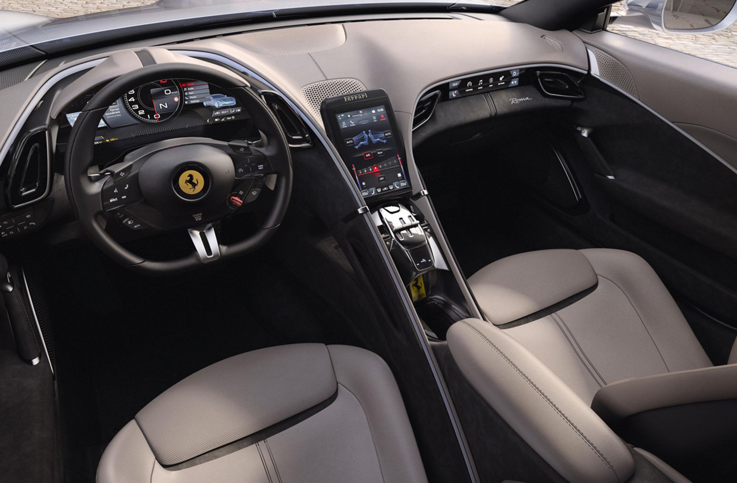 Ferrari Roma interno 1